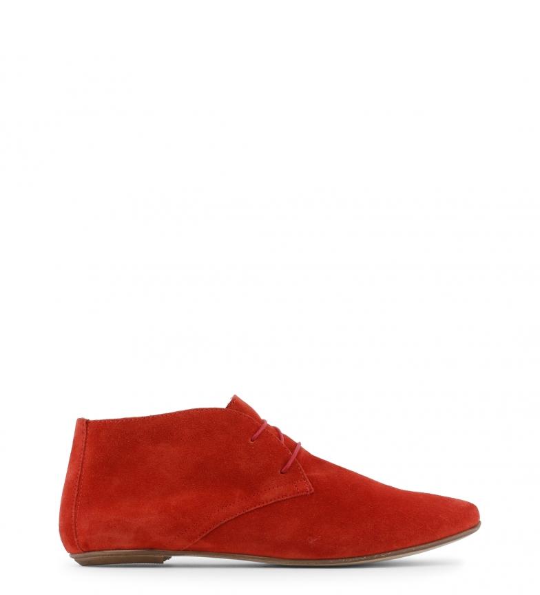 Arnaldo Toscani - Botines de piel color rojo X4eOb8W
