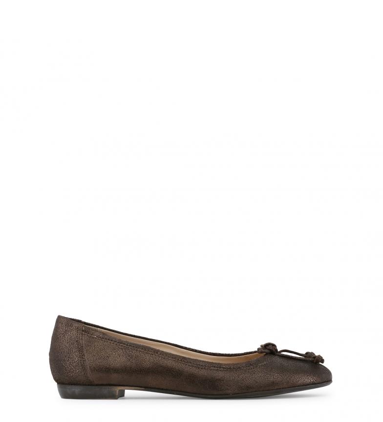Arnaldo piel marrón Bailarinas de Toscani color waZqSFZYx