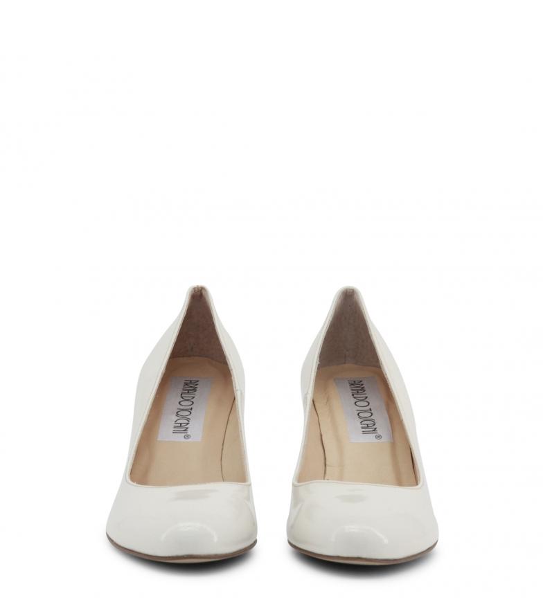 salón charol blanco Toscani Arnaldo tacón Altura Zapatos 8cm de wq4x1E