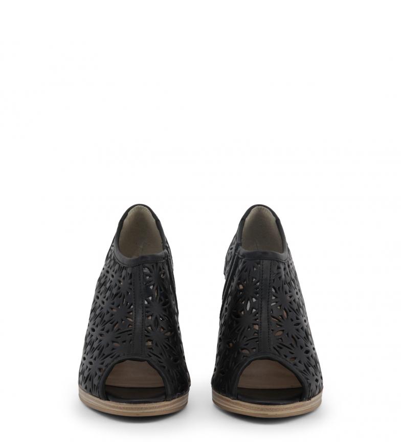 negro Zapatos 8 de Toscani Altura piel 5cm Arnaldo abierto tacón w6Rq71Cxn