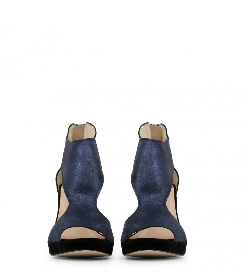 azul Arnaldo 9 tacón piel de Sandalias 5cm Altura Toscani PwxTAwqI