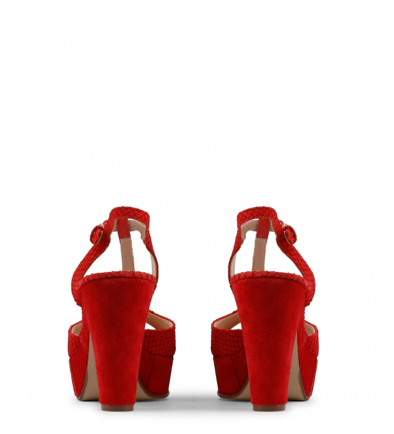 Arnaldo Toscani Sandalias de piel rojo Altura tacón: 10cm