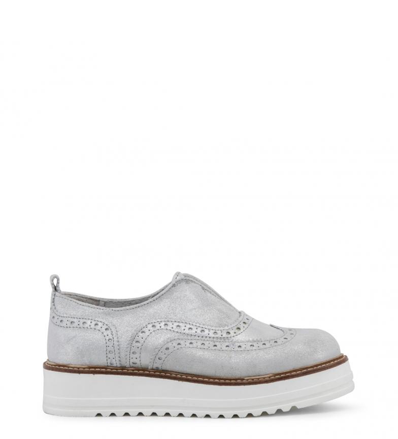 Comprar Ana Lublin Sapatos baixos Geraldina prata - Plataforma de aquecimento: 4 cm-