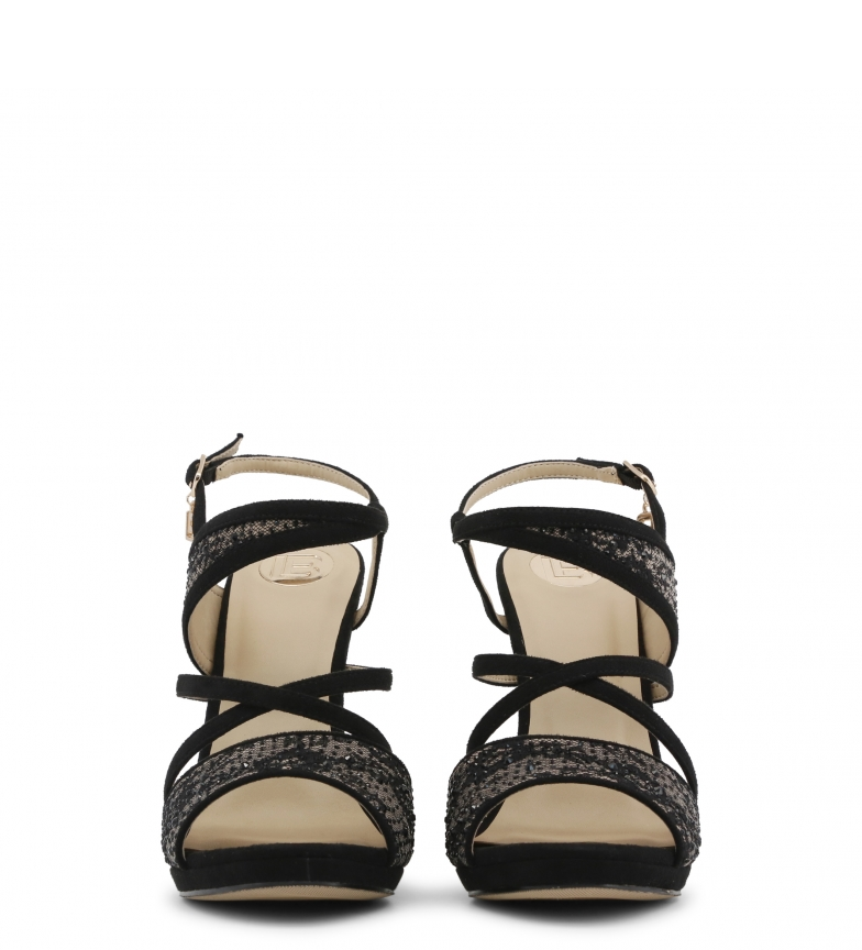 Sandalias 635 Biagiotti negro CLOTH Laura qE5TwgE