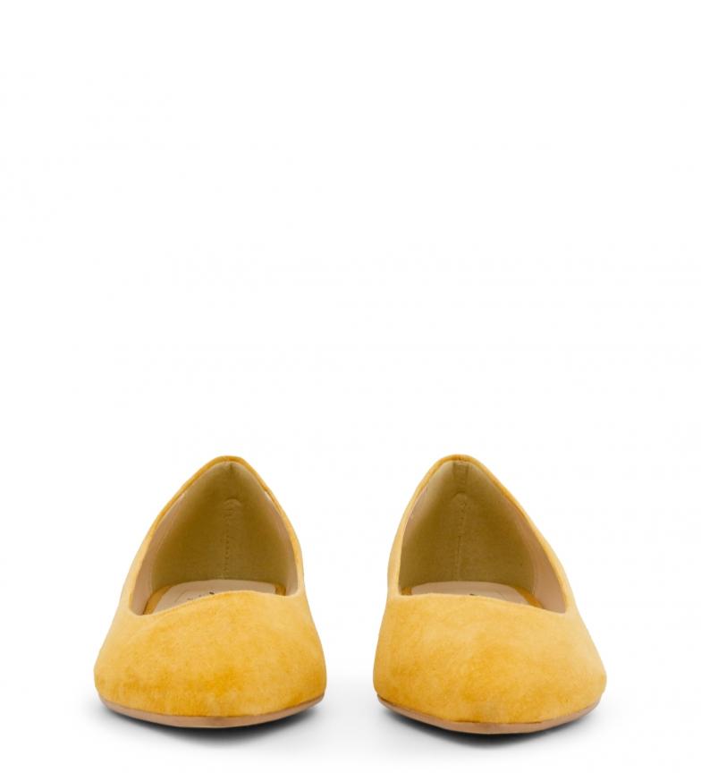 Italia piel de Made amarillo In Bailarinas MARE MARE Sxqwf85wp