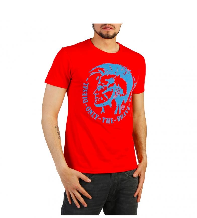 Diesel Camiseta T-DIEGO-FO_00SQXC_0091B red