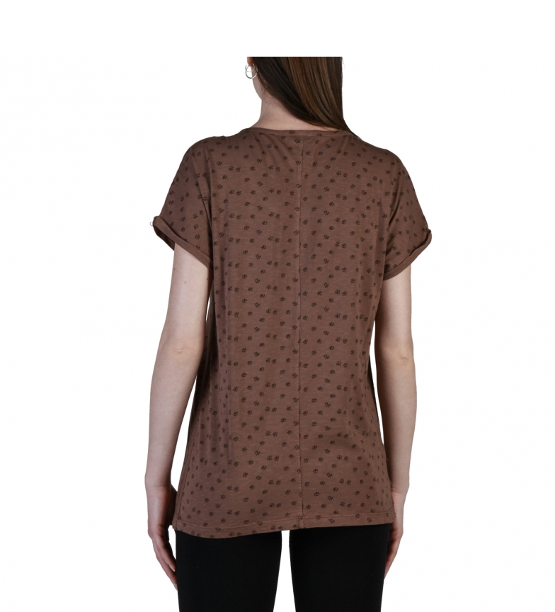 Think Pink Camisetas T18SA5205587 brown