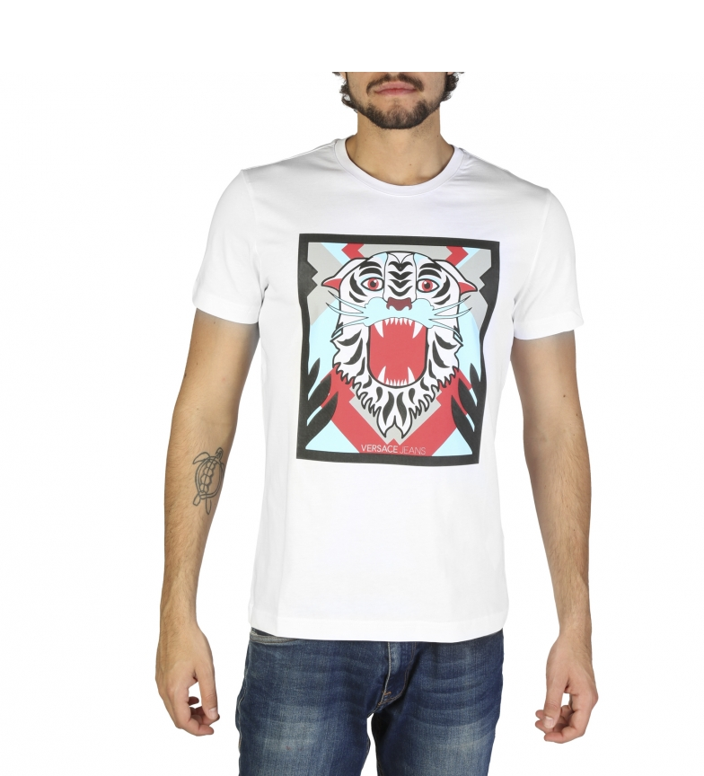 Versace Jeans Jeans Versace Camisetas B3grb71e36598 White ARjL453
