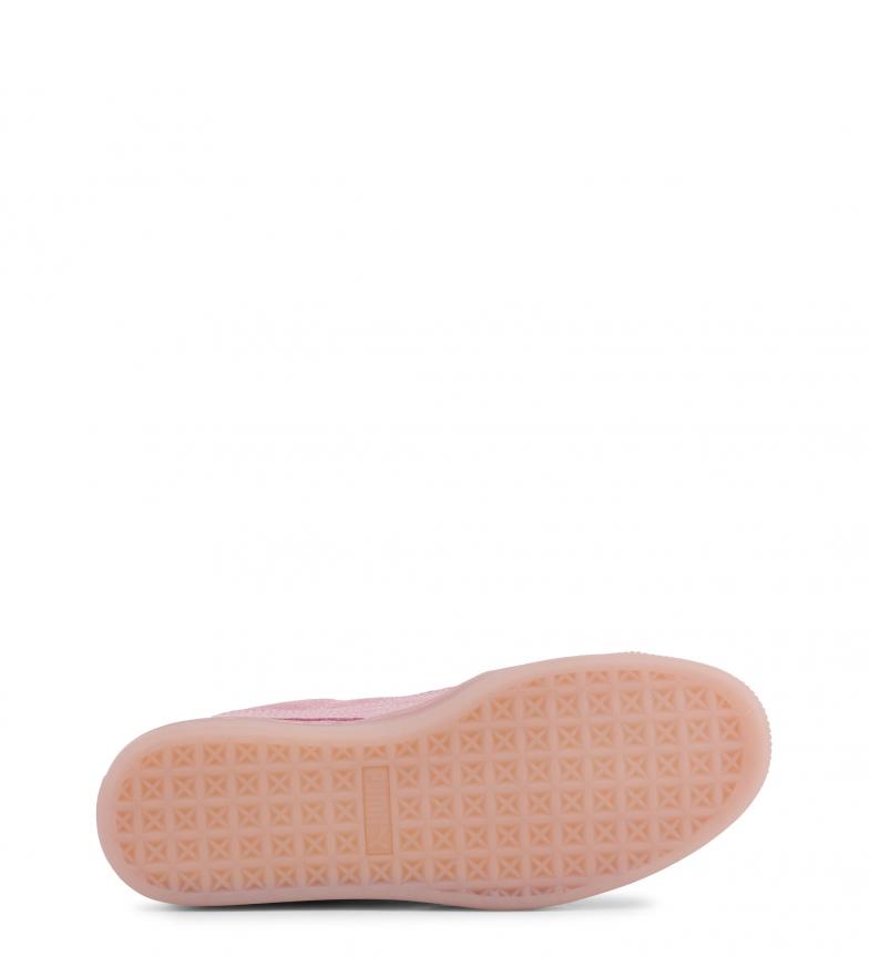 Puma-Zapatillas-de-piel-Suede-Jelly-Mujer-chica-Plano-Cordones-Casual-Rosa miniatura 6