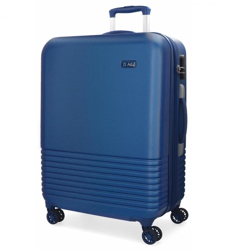 Comprar El Potro Large suitcase El Potro Ride blue -54x79x31cm-