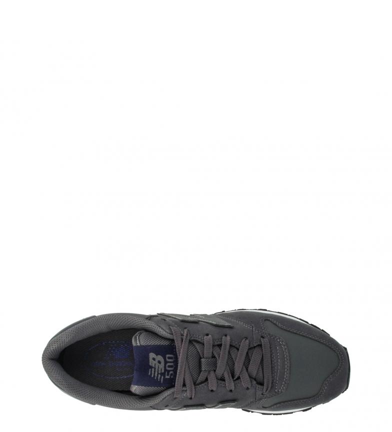 New-Balance-Sneakers-GM500-Uomo-Basso-Stringhe-Casual-Grigio-Sintetico