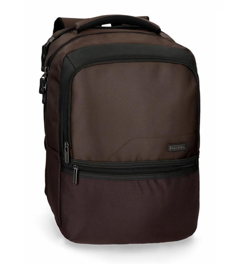 Comprar Roll Road Mochila laptop 15,6 polegadas rolo estrada estoque marrom -31x44x15cm-