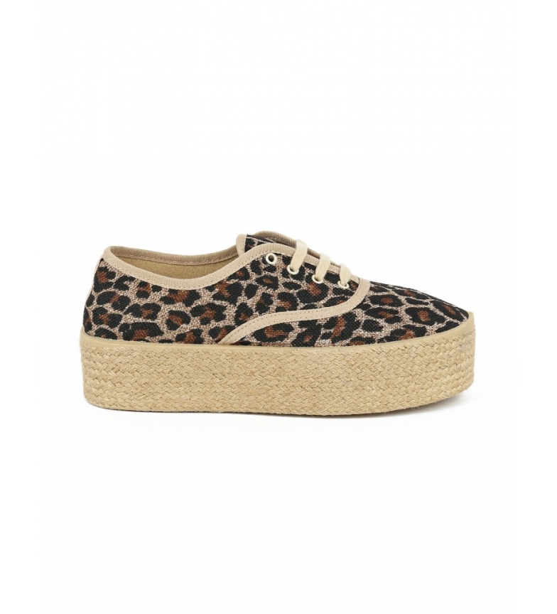 Comprar Chika10 Zapatillas de serraje ingles Repuka 40 leopardo -Altura plataforma: 5cm-