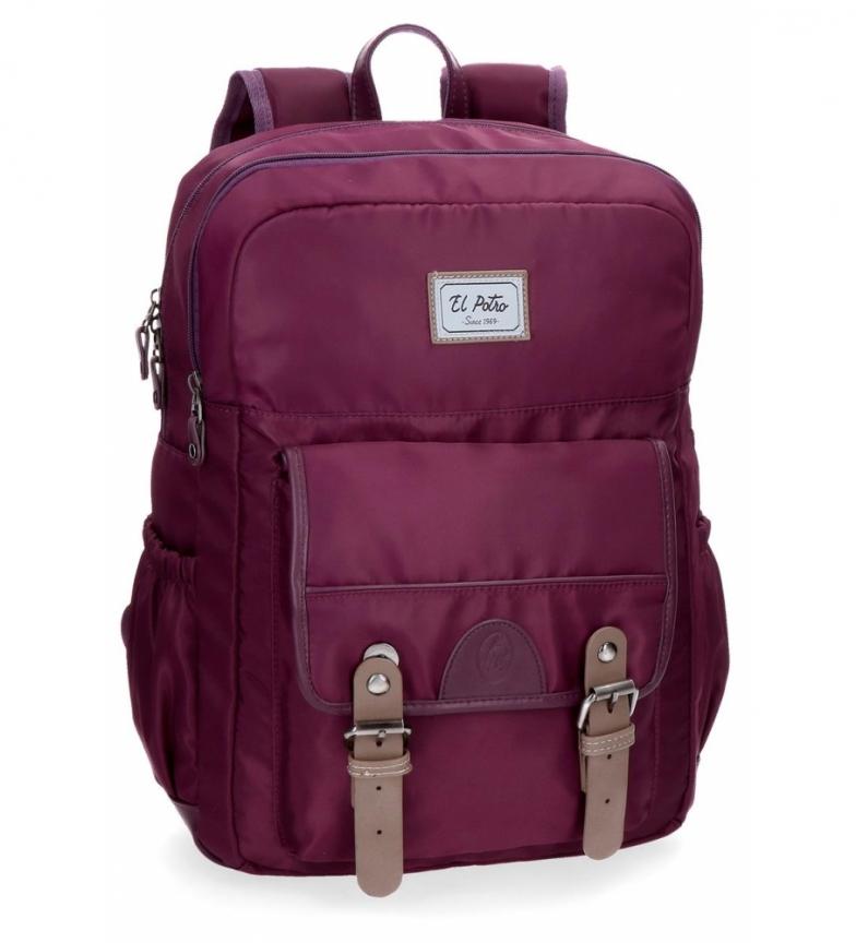Comprar El Potro Mochila para laptop de 15,6 polegadas El Potro Pipe Bordeaux -32x42x12cm-