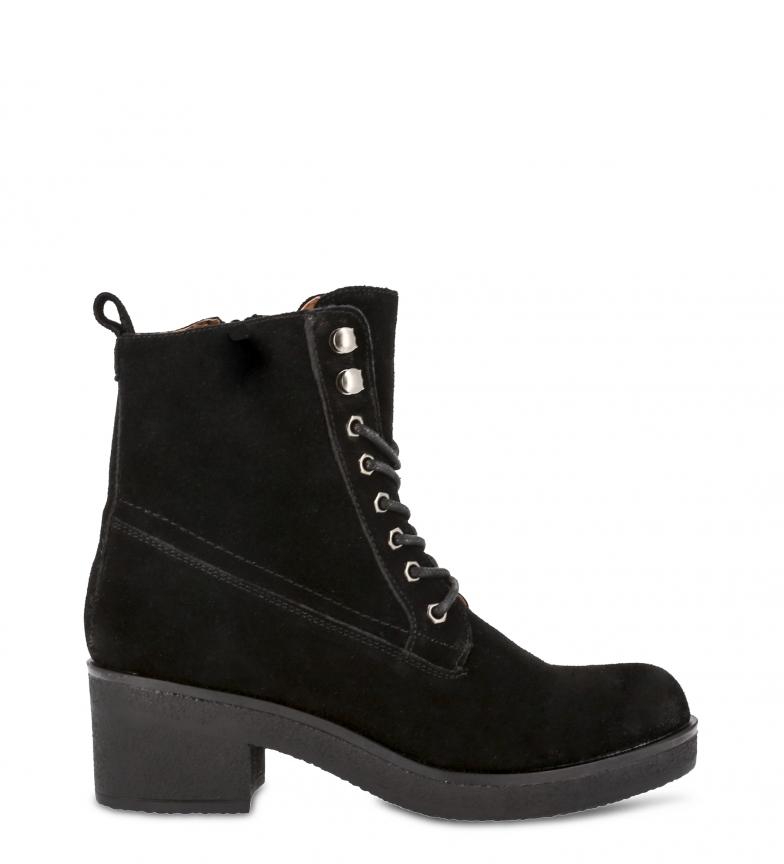 Comprar Docksteps Botins de couro preto CLARA - Altura do salto: 6cm-