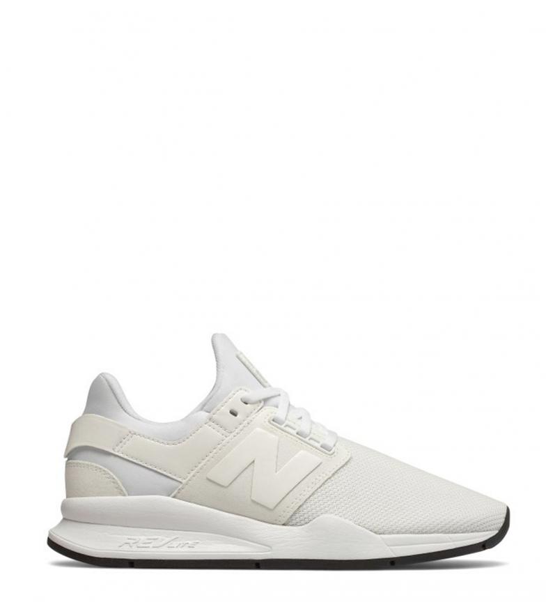 Mujer Ws247 Cordones Plano Balance Sneakers White Blanco chica Rosa Casual New aBUIqn