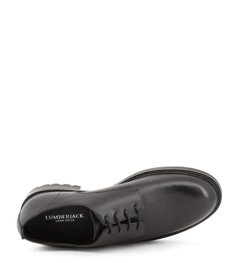 Lumberjack Piel 002 Sm52504 Black Con Zapatos De Cordones AjL54R