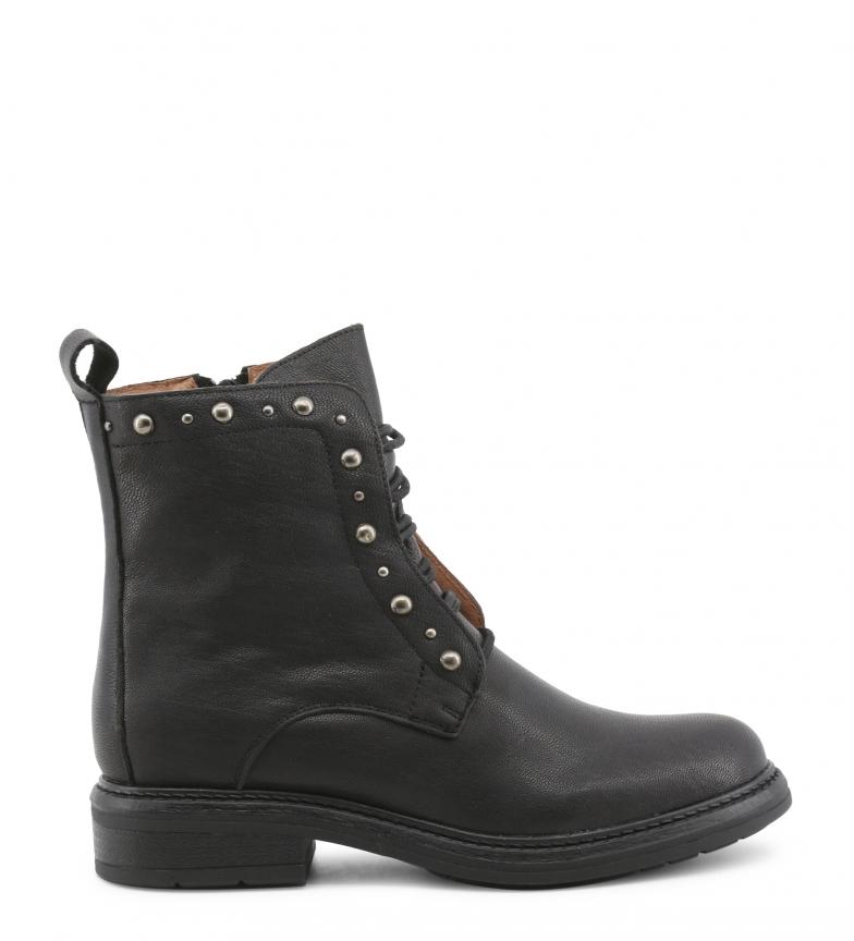 Comprar Docksteps CROWN-MID_2034_BLACK black leather boots