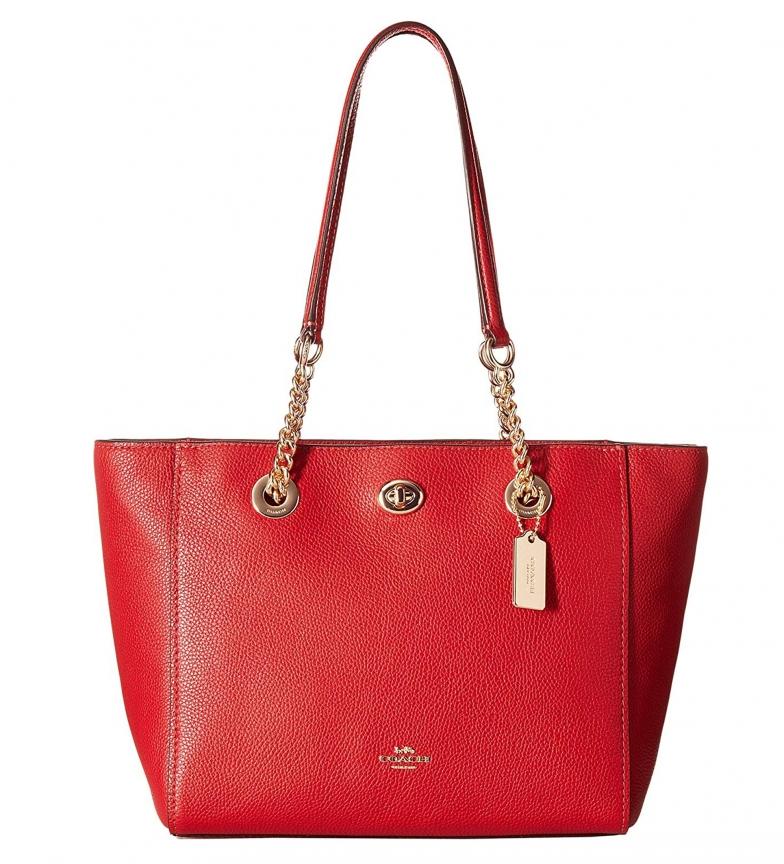 Comprar Coach Sac shopping en cuir 57107 rouge -38,5x23x12,5cm-