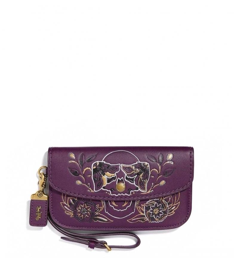 Comprar Coach Pochette en cuir 37370 violet -18,5x11x4cm-