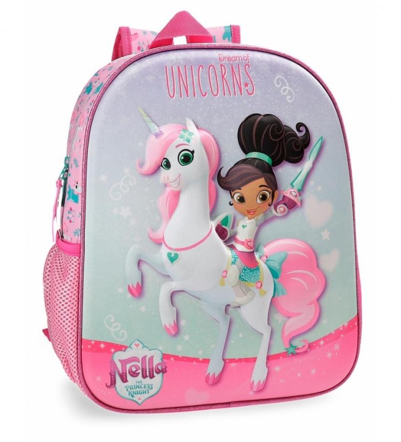 Comprar Nella Nella Unicorns Zaino scuola dell'infanzia adattabile al carrello -33x27x27x11cm-