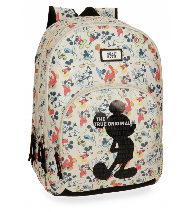 Comprar Mickey Mochila Mickey True Original doble compartimento adaptable a carro -32x44x22cm-