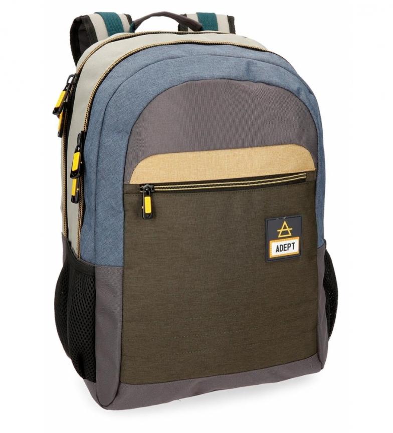 Comprar Adept Sac à dos Adept Camper 15,6 pouces à double compartiment adaptable au trolley -31x44x15cm-.