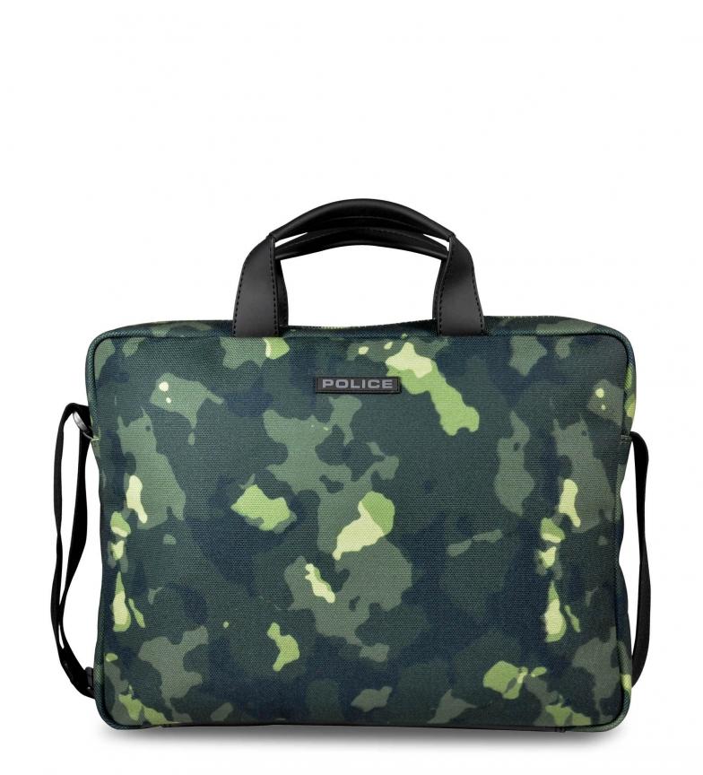 Comprar Police Briefcase PT442143 green -36x27x7cm-