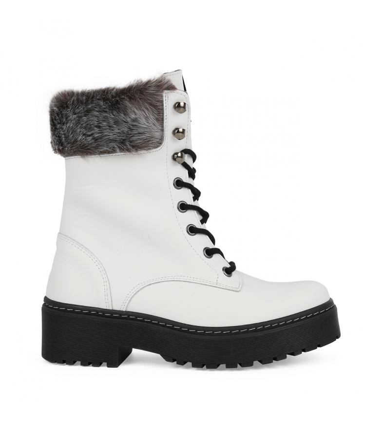 Comprar Chika10 Stivali in pelle Rocker 02 bianco - Altezza piattaforma: 4 cm.
