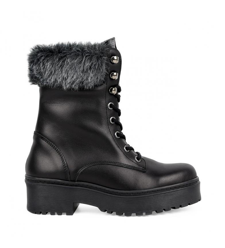 Comprar Chika10 Rocker 02 botas de couro preto - Altura da plataforma: 4cm-