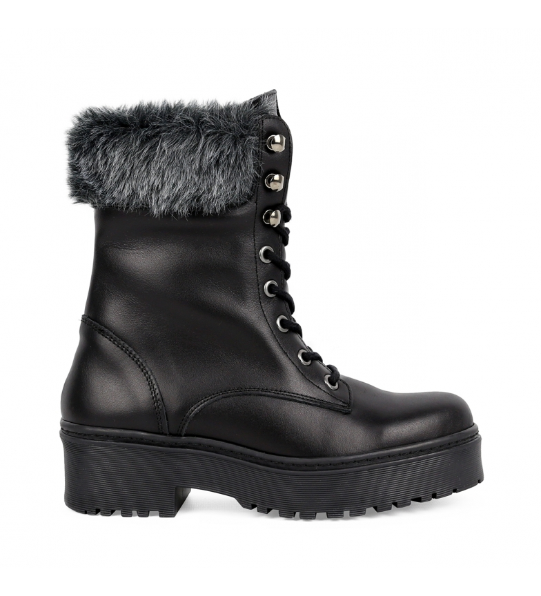 Comprar Chika10 Leather boots Rocker 02 black -High platform: 4cm-