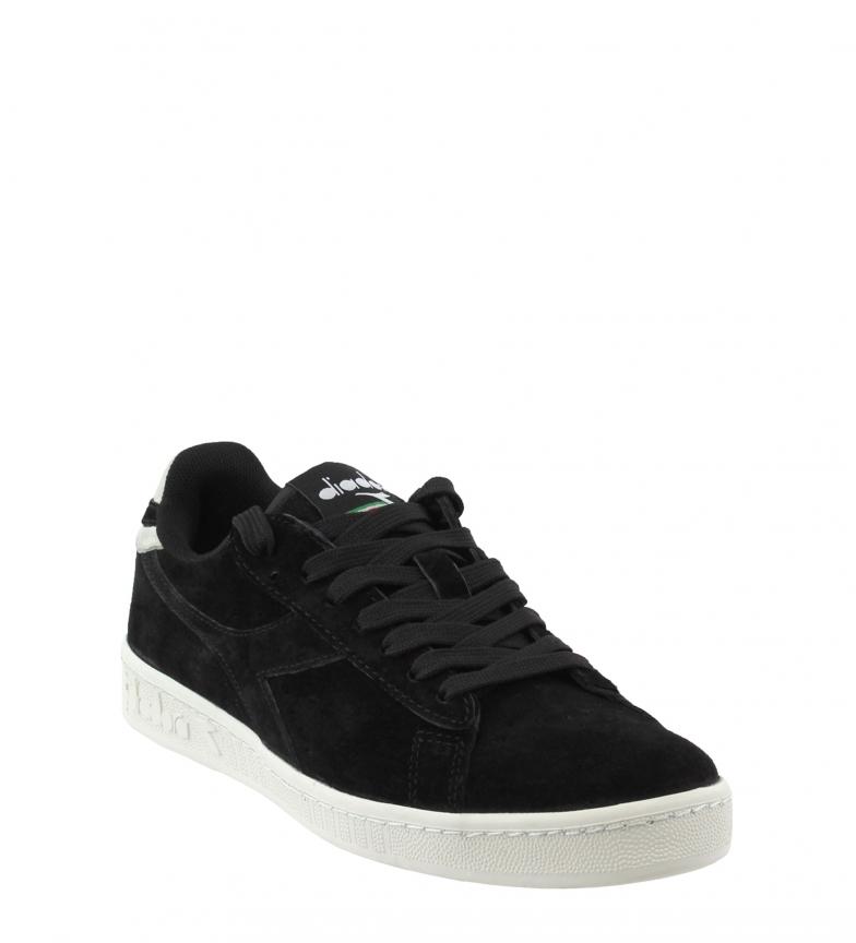 Piel Black Sneakers De Diadora Gamelows ARj3L54