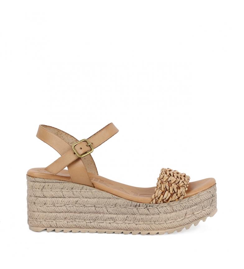 Comprar Chika10 Sandalias de piel Egipto 05 cuero  -Altura de la cuña: 7cm-