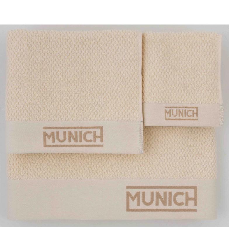 Comprar Munich Juego de toallas marfil -30x50/50x90/70x140cm-