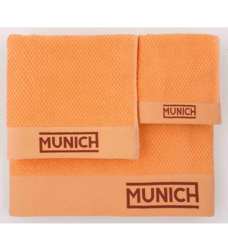 Comprar Munich Conjunto de toalhas laranja -30x50/50x50/50x90/70x140cm