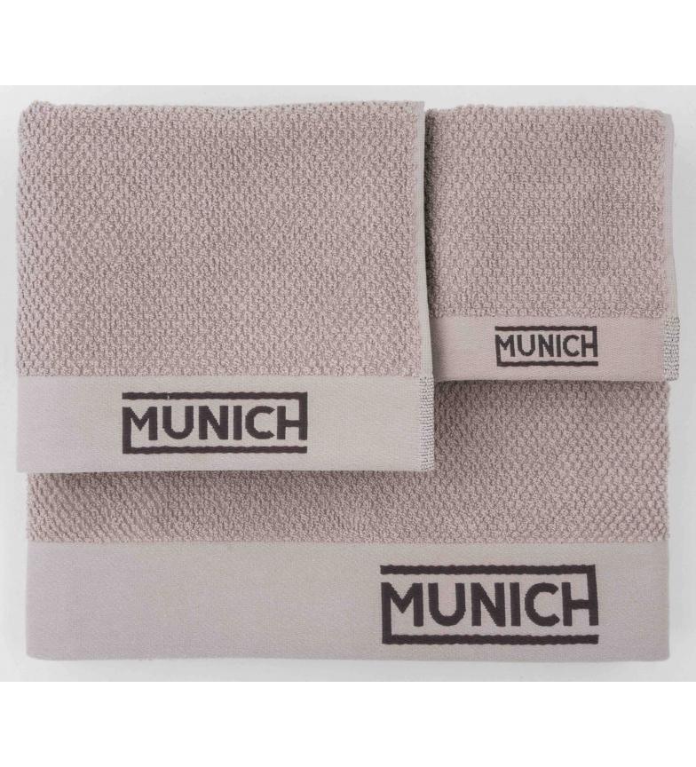 Comprar Munich Conjunto de toalhas de prata -30x50/50x90/70x140cm