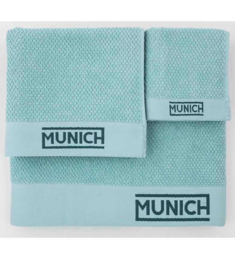 Comprar Munich Juego de toallas turquesa -30x50/50x90/70x140cm-