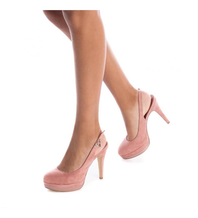Xti-Scarpa-tacco-fine-salone-tacco-035005-nudo-Altezza-tacco-12cm-Donna miniatura 3