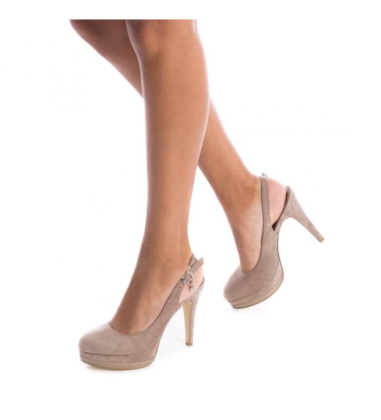 Xti-Scarpa-tacco-fine-salone-tacco-035005-nudo-Altezza-tacco-12cm-Donna miniatura 8