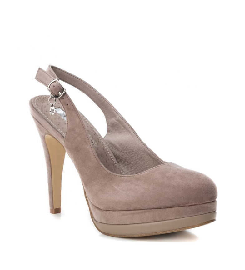 Xti-Scarpa-tacco-fine-salone-tacco-035005-nudo-Altezza-tacco-12cm-Donna miniatura 9