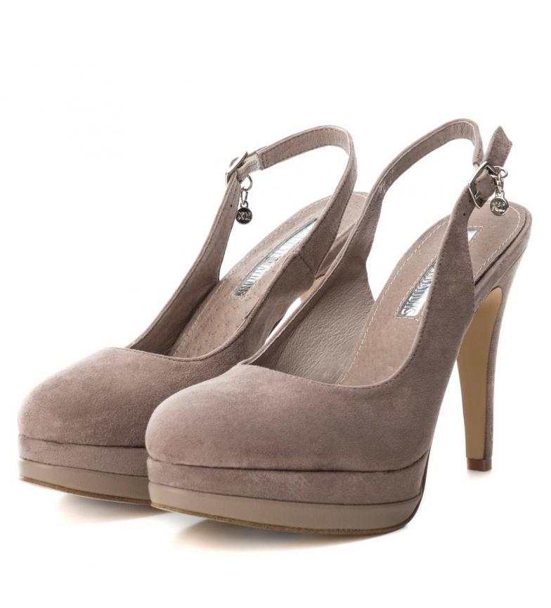 Xti-Scarpa-tacco-fine-salone-tacco-035005-nudo-Altezza-tacco-12cm-Donna miniatura 11