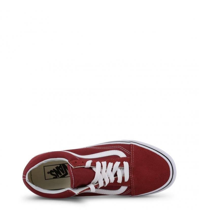 size 40 6e4a1 cdc4d Dettagli su Vans - Sneakers OLD-SKOOL rosa Donna Rosso Giallo Arancione  Tessuto Basso