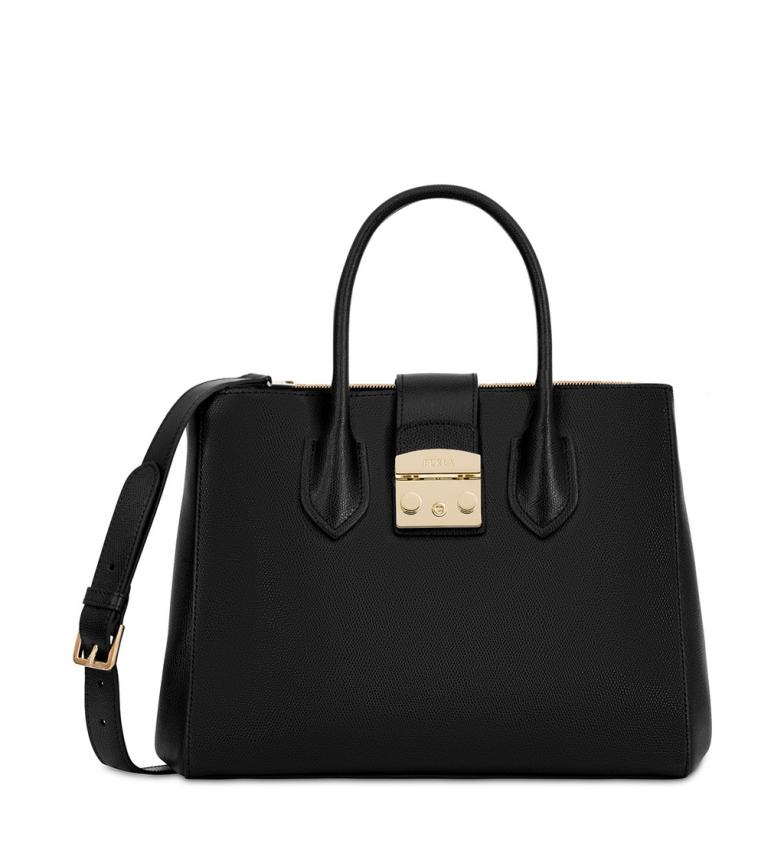 Comprar Furla Bolsos de mano de piel 908102 black -32x26x15cm-