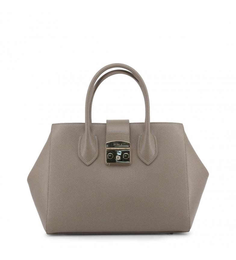 Comprar Furla Bolsos de mano de piel 920437 grey -43x26x15cm-