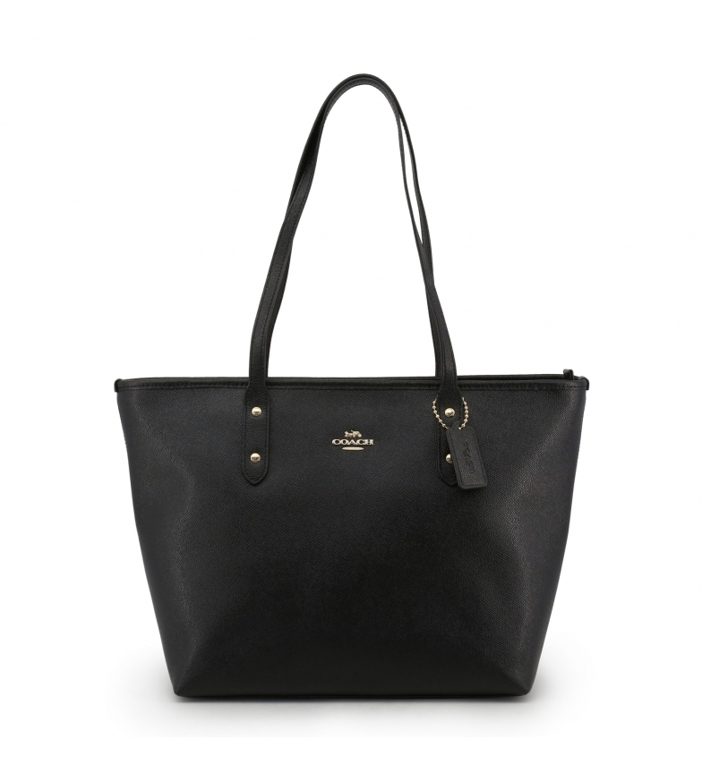 Comprar Coach Shopping bag de piel F58846 black -41x26x14cm-