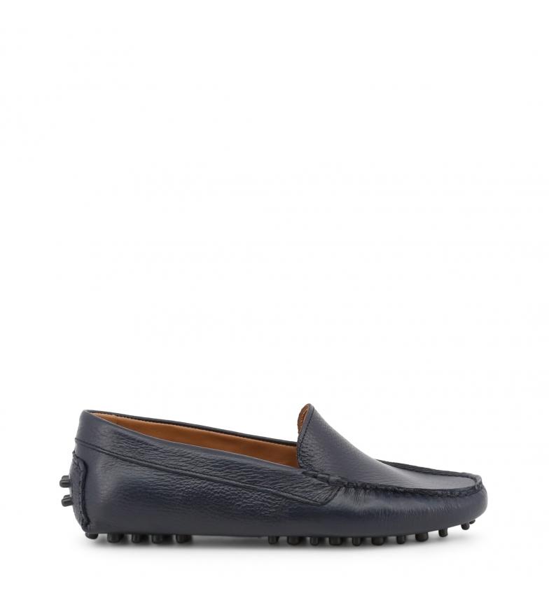 Comprar Made In Italia Leather loafers FOTOROMANZA blue