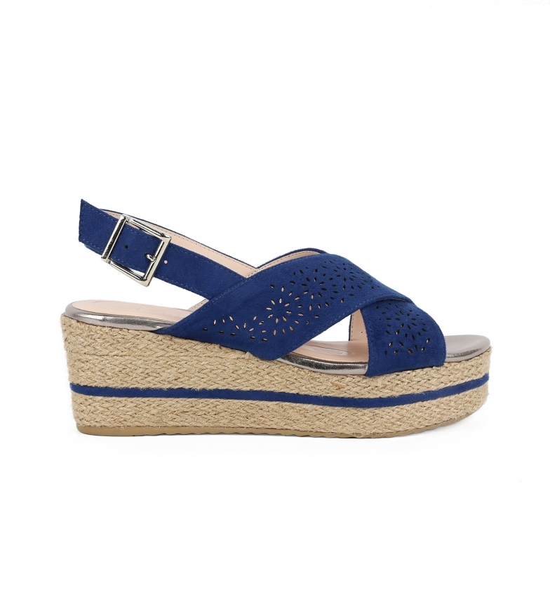 Comprar Chika10 Sandalias Don 07 navy - Altezza cuneo: 7cm-