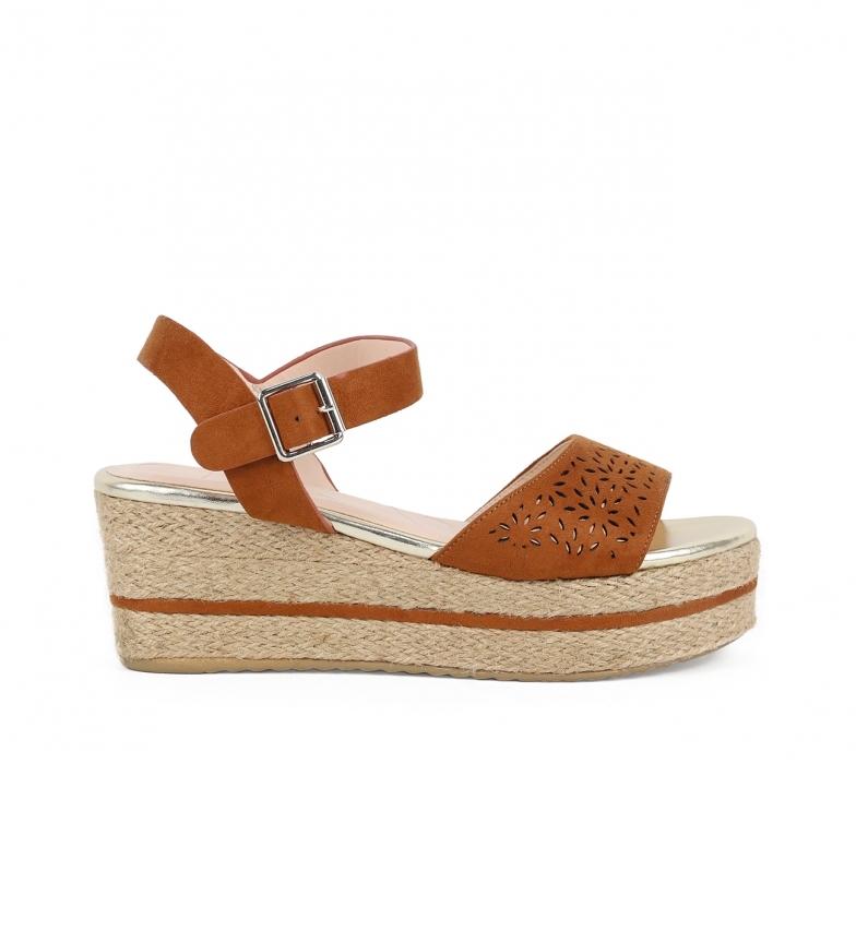 Comprar Chika10 Sandalias Donate 08 in pelle - Altezza cuneo: 7 cm-