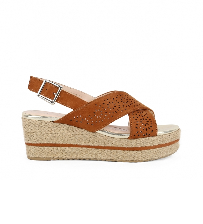 Comprar Chika10 Sandalo Dona 07 in pelle - Altezza cuneo: 7 cm-