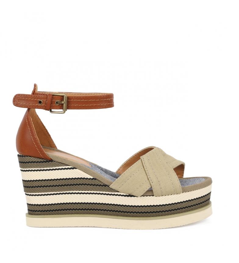 Comprar Chika10 Sandals Nila 02 beige - Wedge height: 8cm